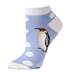 Polka-Dot Penguin Ankle Socks