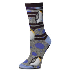 Polka-Dot Penguin Socks
